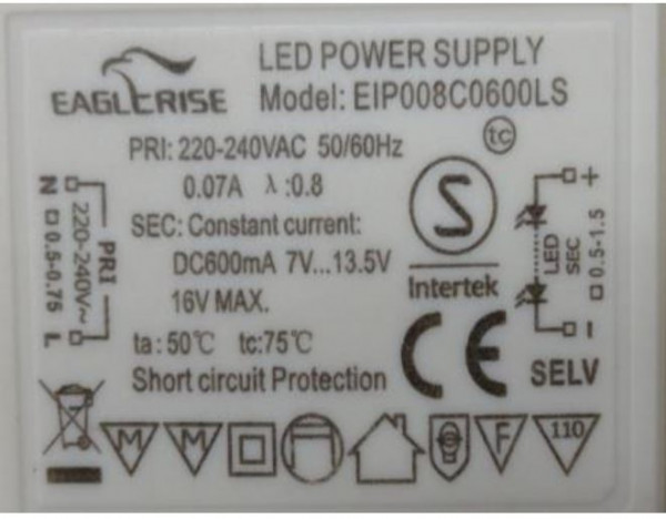 LED-DRIVER EAGELRISE EIP008C06