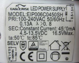 LED-DRIVER EAGLERISE EIP006C04