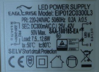 LED-DRIVER EAGLERISE EIP012C03