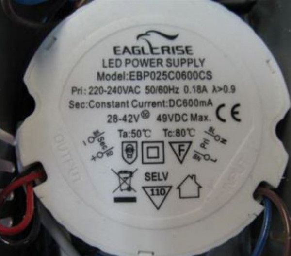 LED-DRIVER EAGLERISE EBP025C06