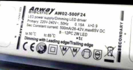 LED-DRIVER ANWAY AW02-500F24