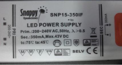 LED-DRIVER SNAPPY SNP15-350IF