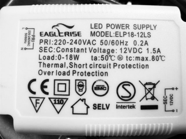 LED-DRIVER EAGLERISE ELP18-12L