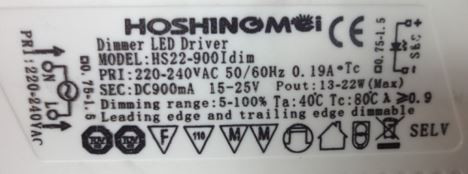 Led-driver Hoshingmei Hs22-90