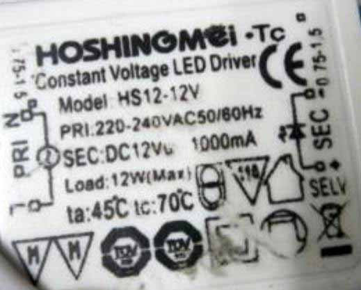 LED-DRIVER HOSHINGMEI HS12-12V