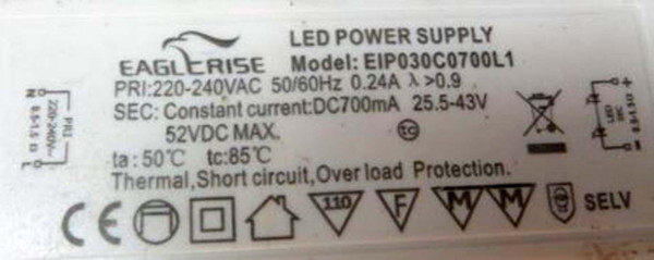 LED-DRIVER EAGLERISE EIP030C70