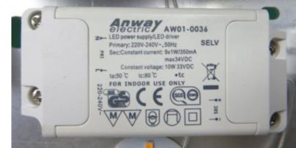 LED-DRIVER ANWAY AW01-0036