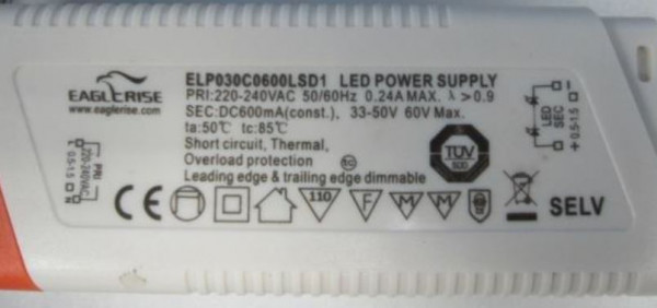LED-DRIVER EAGLERISE ELP30C600