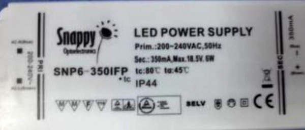 LED-DRIVER SNAPPY SNP6-350IFP